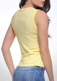 Μπλούζα ριγέ κίτρινη αμάνικη.